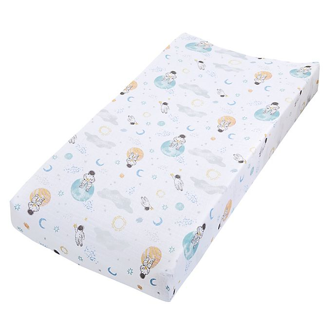 Alternate image 1 for aden + anais™ essentials Space Changing Pad Cover in Blue
