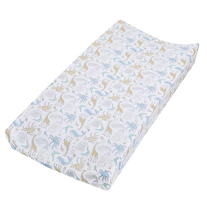 Alternate image 1 for aden + anais™ essentials History Muslin Changing Pad Cover in Grey