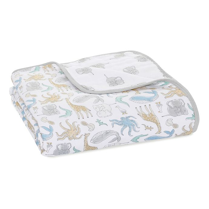 Alternate image 1 for aden + anais™ essentials History Muslin Blanket in Grey