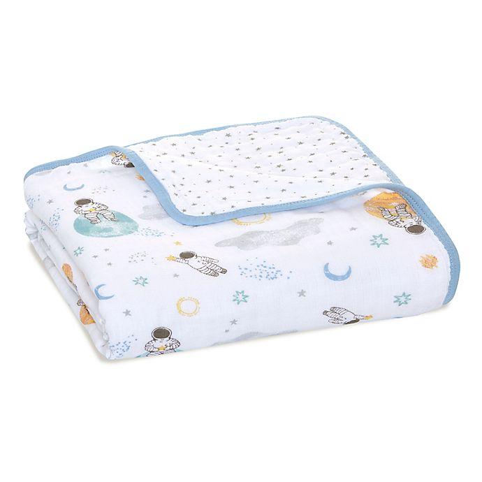 Alternate image 1 for aden + anais™ essentials Explorers Muslin Blanket in Blue