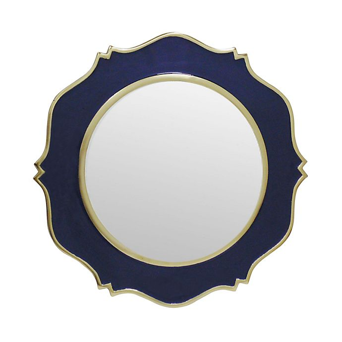 18 Inch Round Enamel Wall Mirror, Decorative Wall Mirrors Bed Bath And Beyond