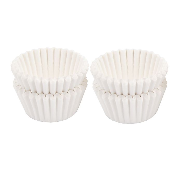 Alternate image 1 for Simply Essential™ 100-Count Mini Muffin Cups in White