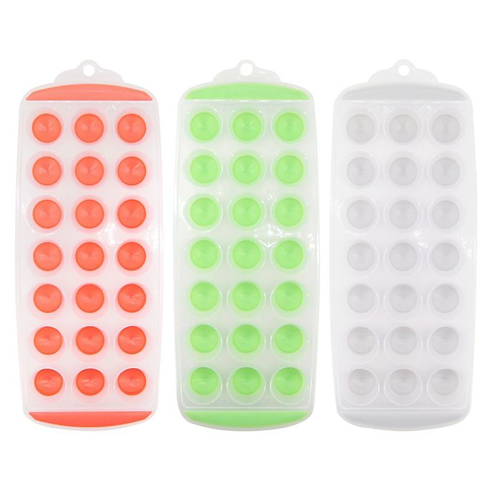 Alternate image 1 for Simply Essential™ 3-Piece Ice Cube Trays Set