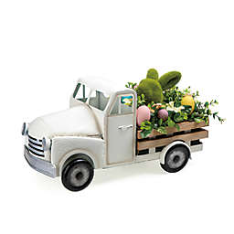9.7-Inch Vintage Easter Truck Decoration in Cream