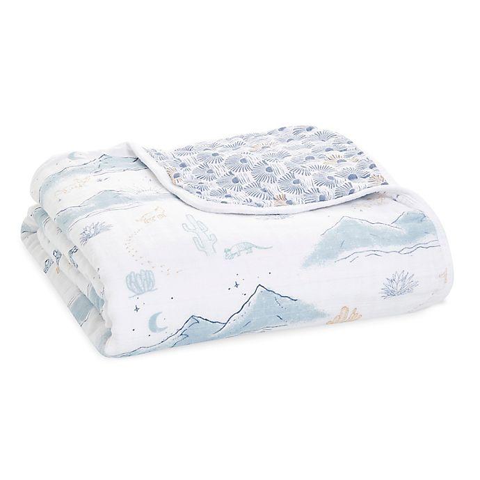 Alternate image 1 for aden + anais™ essentials Sunrise Muslin Dream Blanket in Blue