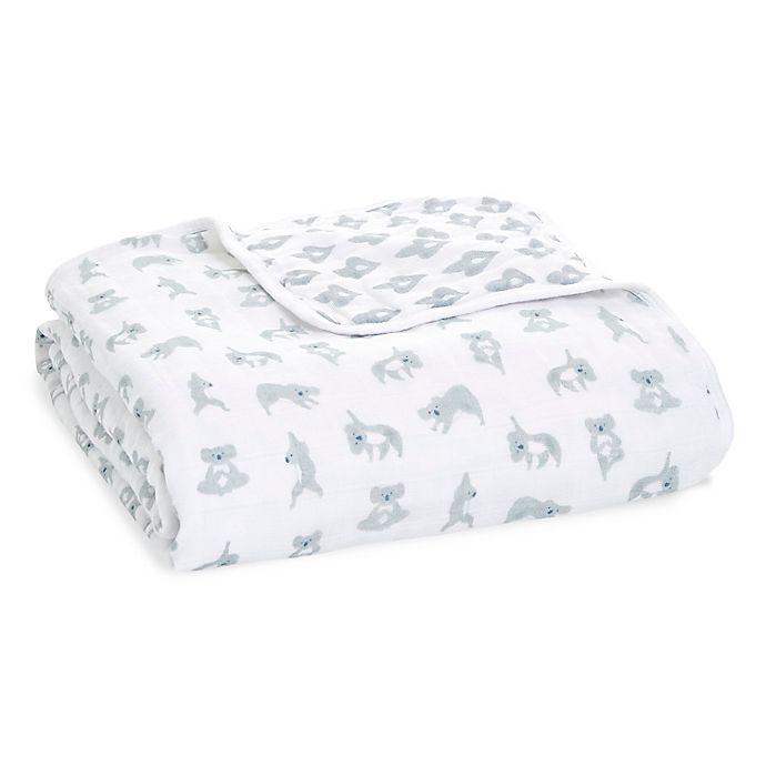 Alternate image 1 for aden + anais™ essentials Now + Zen Muslin Dream Blanket in Grey
