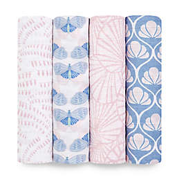 aden + anais™ 4-Pack Deco Muslin Swaddles Blankets in Pink