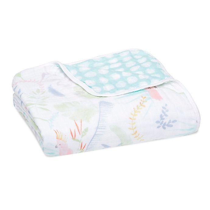 Alternate image 1 for aden + anais™ essentials Tropicalia Muslin Blanket in Pink