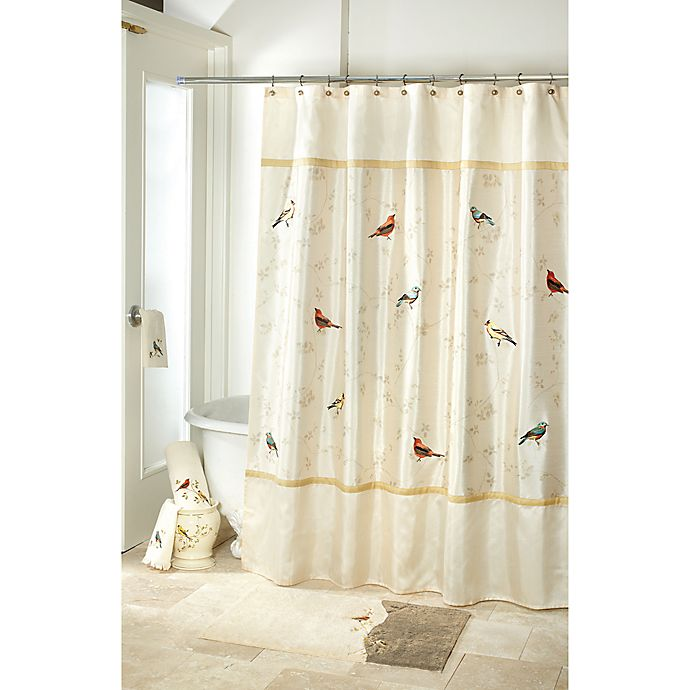 Alternate image 1 for Avanti Gilded Birds Bath Collection