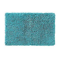 SKL Home Ocean Watercolor Scales Bath Rug Collection in Aqua