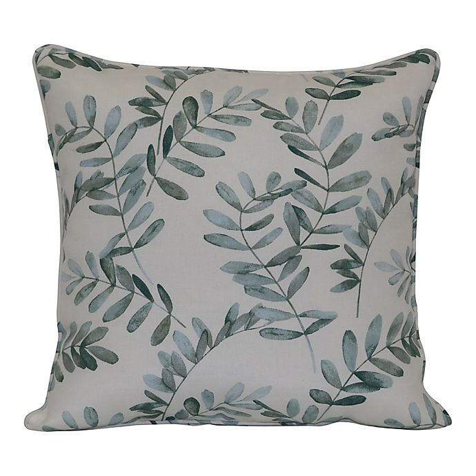 Alternate image 1 for Bee & Willow™ Home Water Fern Square Indoor/Outdoor Throw Pillow in Green