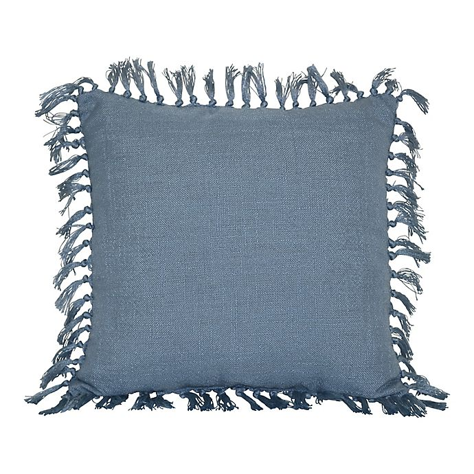 Alternate image 1 for Bee & Willow™ Faded Denim Square Indoor/Outdoor Throw Pillow in Blue