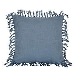 Bee & Willow™ Faded Denim Square Indoor/Outdoor Throw Pillow in Blue