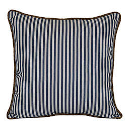Bee & Willow™ Home Runway Stripe Braided Square Indoor/Outdoor Throw Pillow in Blue