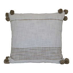 Bee & Willow™ Woven Stripe Square Indoor/Outdoor Throw Pillow in Coconut Milk