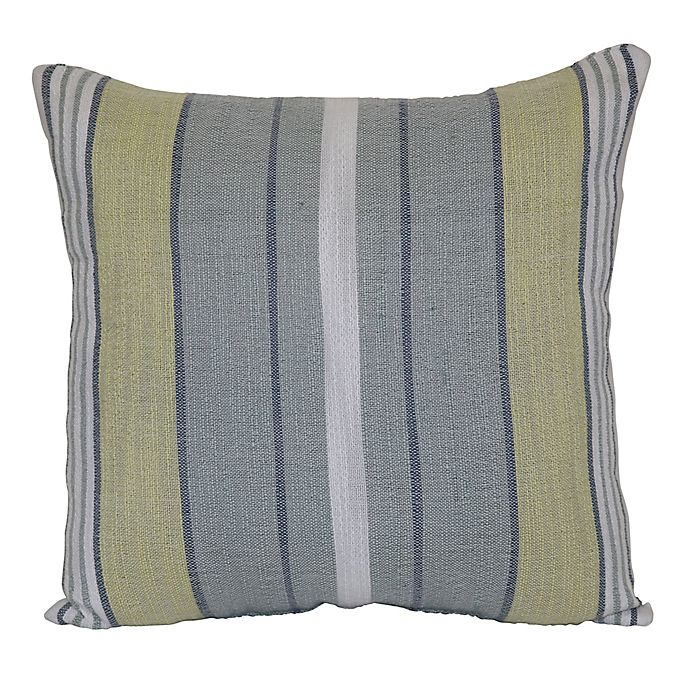 Alternate image 1 for Bee & Willow™ Home Woven Stripe Square Indoor/Outdoor Throw Pillow in Blue/Green