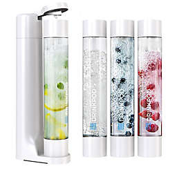 Drinkpod® FIZZPod One Touch Sparking Soda Maker Value Pack in White