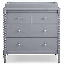 Delta Children Saint 4-Drawer Dresser with Changing Topper in Grey