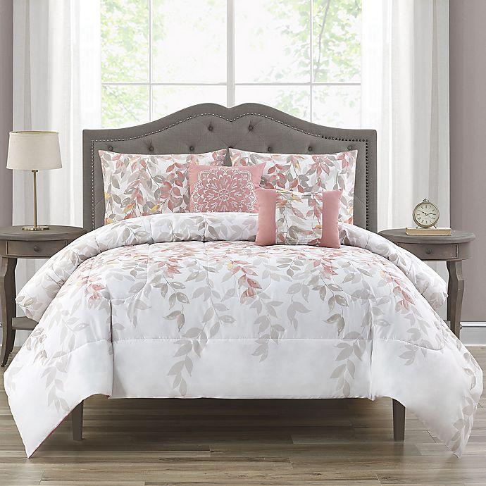 Alternate image 1 for Kimora 5-Piece Queen Comforter Set in Blush