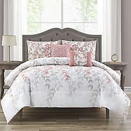 Kimora 5-Piece Queen Comforter Set in Blush