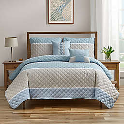 Conesville 5-Piece King Quilt Set in Spa