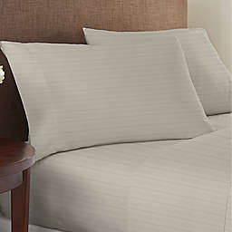 Nestwell™ Egyptian Cotton Sateen 625-Thread-Count Queen Sheet Set in Dove Stripe