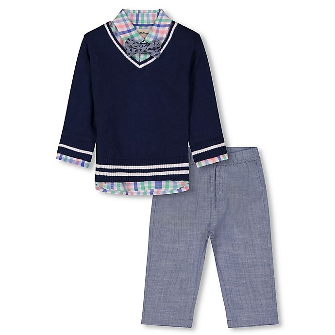 Alternate image 1 for Beetle & Thread® 4-Piece Sweater, Shirt, Pant and Bow Tie Set