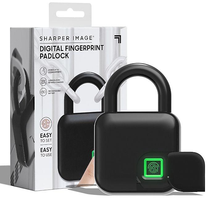 Alternate image 1 for Sharper Image® Fingerprint Lock in Black
