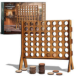 Hammer + Axe 4-in-a-Row Wood Tabletop Game