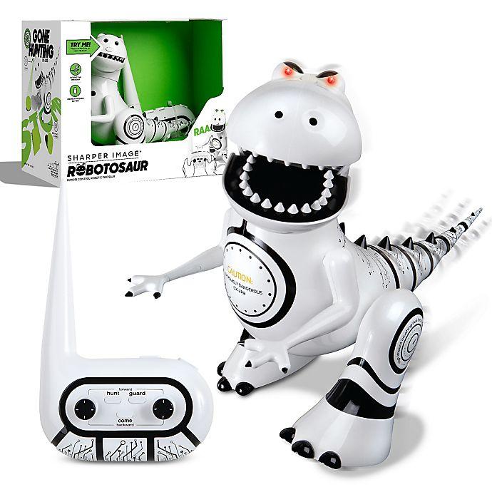 Alternate image 1 for Sharper Image® Robotosaur Trainable Robotic Dinosaur in White