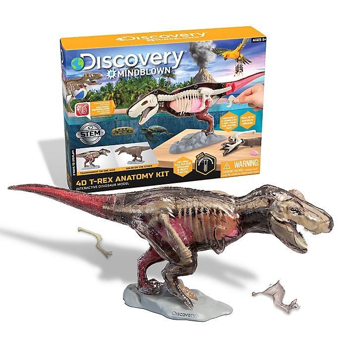 Alternate image 1 for Discovery™ MINDBLOWN Toy Anatomy T-Rex 28-Piece Playset
