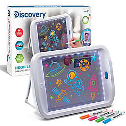 Discovery Kids Neon Glow Drawing Light Board in White/Blue