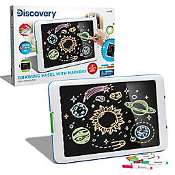 Discovery Kids™ Drawing Light Designer Wide Screen Easel in White