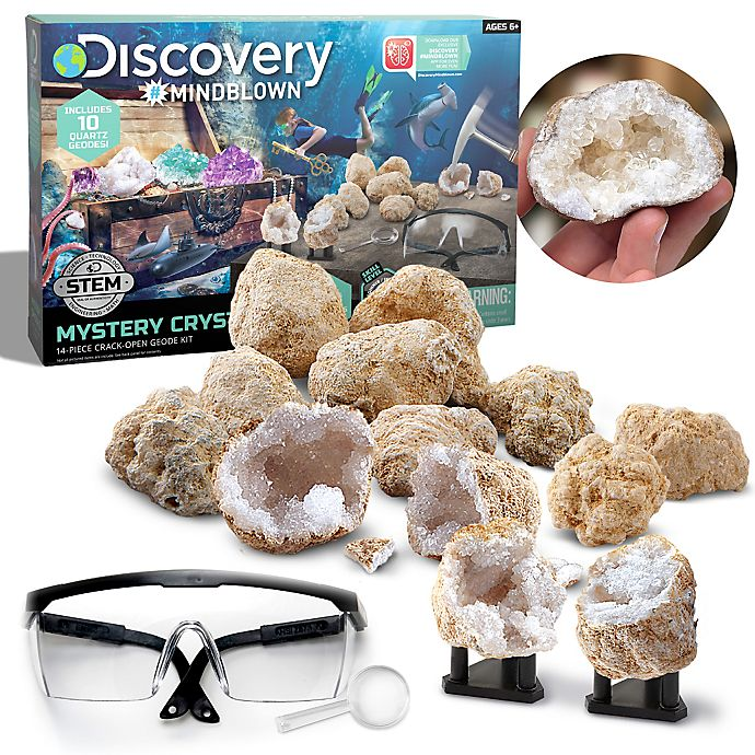 Alternate image 1 for Discovery™ MINDBLOWN 14-Piece Mystery Crystals Geode Excavation Kit