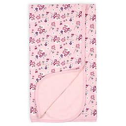Gerber® Floral Reversible Organic Cotton Knit Blanket in Pink