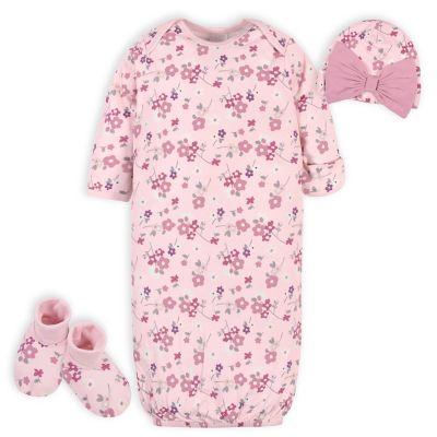 Gerber Baby Girls 4 Piece Layette Set NEW Various Sizes Cupcake Flower Design