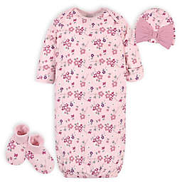 Gerber® Organic 3-Piece Wild Flower Gown Layette Set