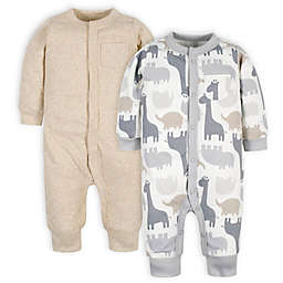 Gerber® Preemie 2-Pack Jungle Coveralls in Grey