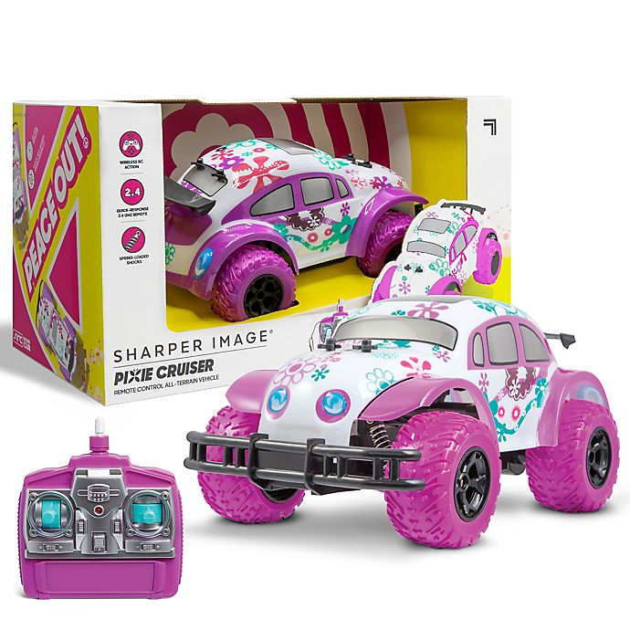 Alternate image 1 for Sharper Image® Pixie Cruiser Remote Controlled Car in White/Pink