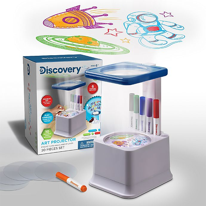 Alternate image 1 for Discovery Kids™ Sketcher Projector in White/Navy