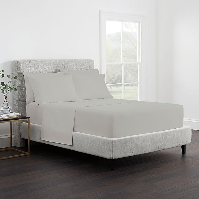 Alternate image 1 for Claritin® Allergen Barrier 300-Thread-Count Queen Sheet Set in Grey