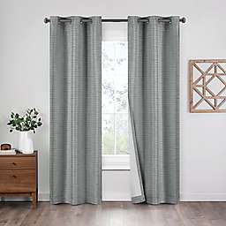 Eclipse Griffin 2-Pack 63-Inch Grommet 100% Blackout Window Curtain Panels in Grey