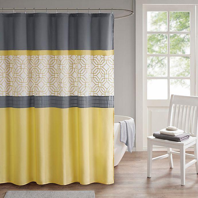 Alternate image 1 for 510 Design Donnel Embroidered Shower Curtain