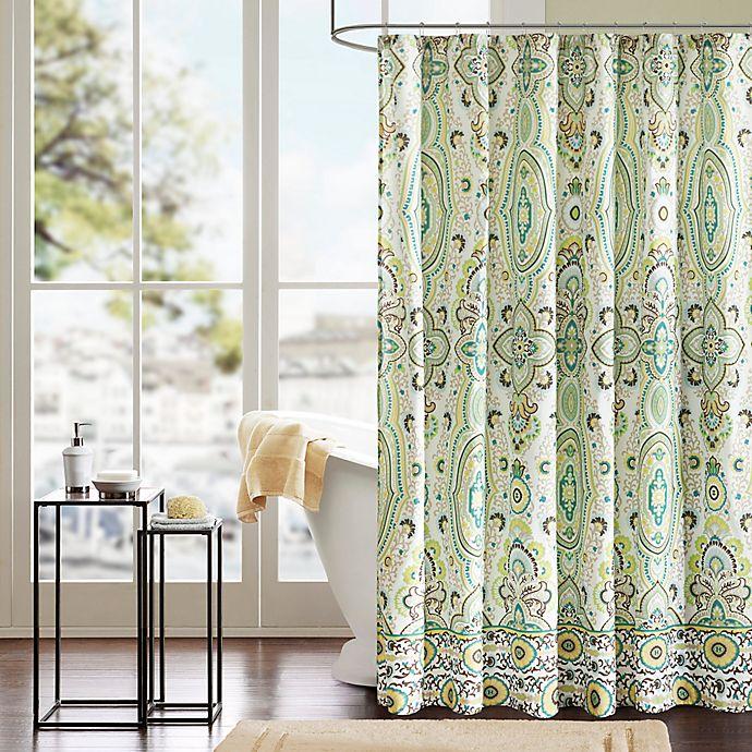 Alternate image 1 for Intelligent Design Tasia Shower Curtain in Green
