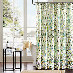 Intelligent Design Tasia Shower Curtain in Green