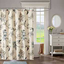 Madison Park Quincy Shower Curtain in Khaki