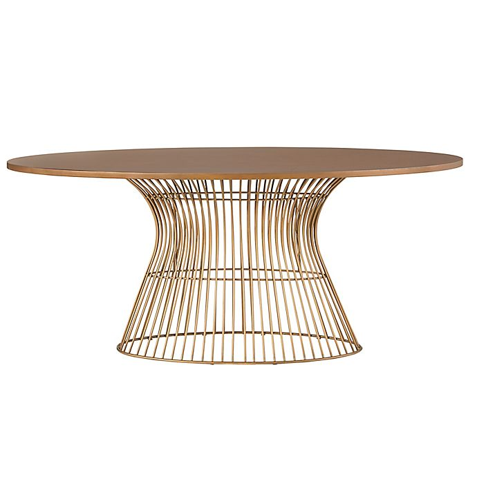 Alternate image 1 for INK+IVY® Mercer Oval Dining Table in Bronze