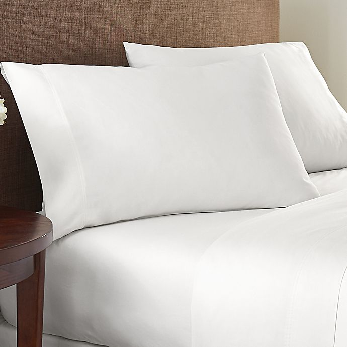 Alternate image 1 for Nestwell™ Garment Washed Percale 180-Thread-Count Twin XL Sheet Set