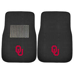 University of Oklahoma 2-Piece Embroidered Car Mat Set