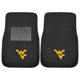 West Virginia University 2-Piece Embroidered Car Mat Set